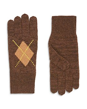 Burberry - Argyle Intarsia Knit Gloves
