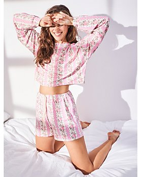 Stripe and Stare - Floral Bloom Cropped Shorts Set
