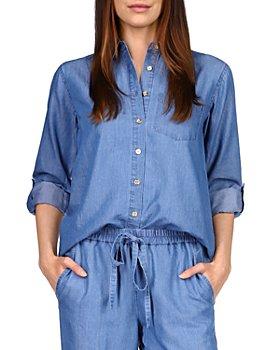 MICHAEL Michael Kors - Chambray Oversized Button-Up Shirt