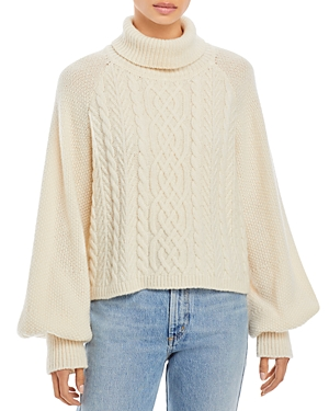 Adam Lippes CABLE KNIT TURTLENECK SWEATER