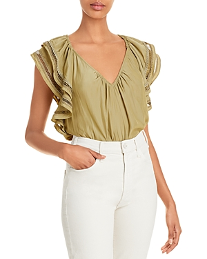 Ramy Brook Merrit Ruffle Sleeve Top