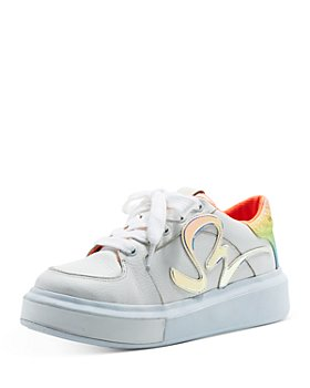 Sophia Webster - Women's Swalk Iridescent Lace Up Sneakers
