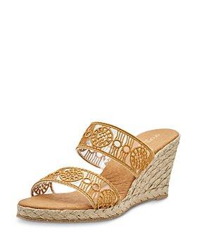 Andre Assous - Women's Anja Slip On Espadrille Wedge Sandals