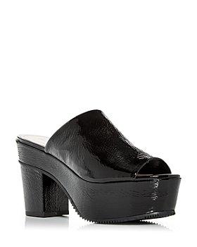 SCHUTZ - Women's Coryna High Block Heel Platform Slide Sandals
