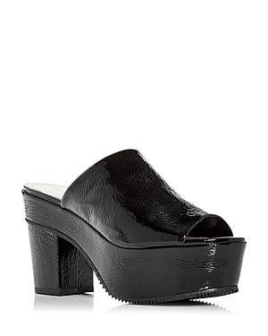 Schutz Women's Coryna High Block Heel Platform Slide Sandals