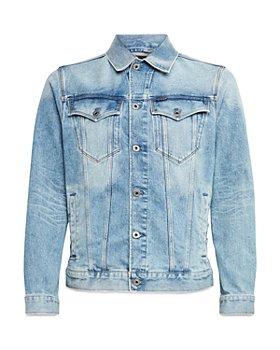 G-STAR RAW - Slim Fit Denim Jacket in Sun Faded Stone