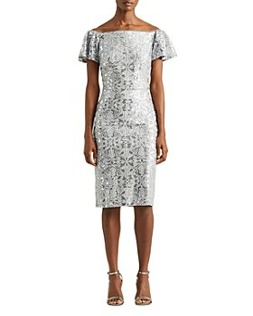 Ralph Lauren - Sequin Embroidered Lace Dress