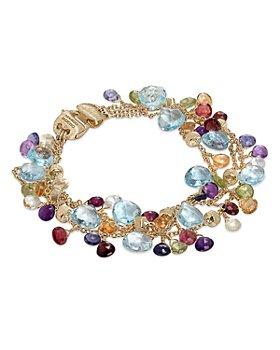 Marco Bicego - 18K Yellow Gold Paradise Mixed Gemstone Three Strand Bracelet