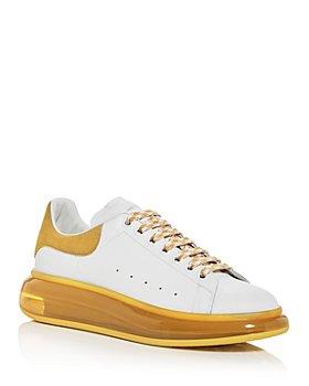 Alexander McQUEEN - Men's Oversized Suede Heel & Transparent Sole Sneakers