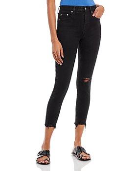 Pistola - Aline Skinny Leg Cropped Jeans in Black