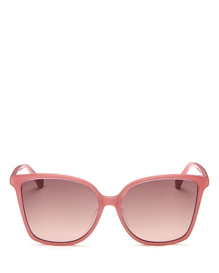 Kate Spade New York Women's Cat Eye Sunglasses, 58mm In Pink