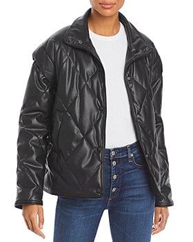 Apparis - Liliane Lightweight Faux Leather Puffer Jacket