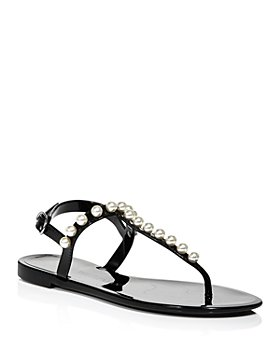 Stuart Weitzman - Women's Goldie Embellished Jelly Sandals