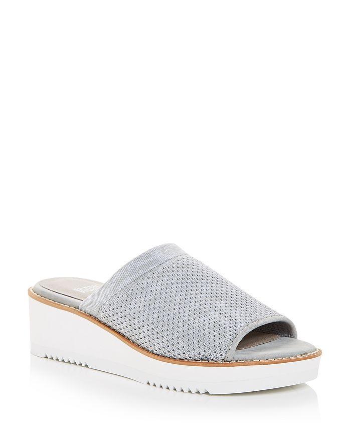 Eileen Fisher - Women's Telly Stretch Knit Wedge Slide Sandals