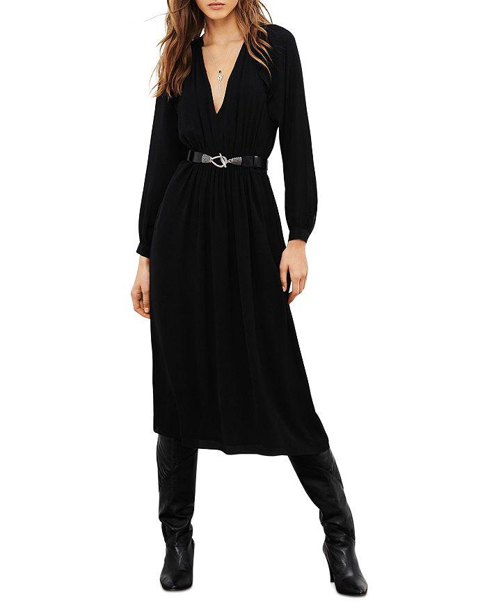 BA&SH Midi dresses BA & SH ULLA DEEP V NECK DRESS