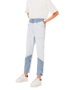ba&sh - Apolo Color Block Ankle Jeans in Blue Jeans