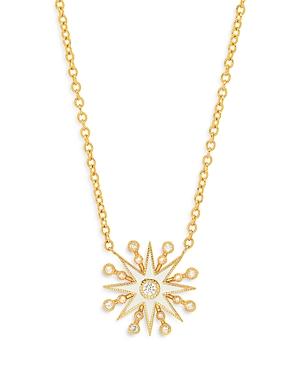 18K Yellow Gold Galaxia Diamond & Enamel Star Pendant Necklace