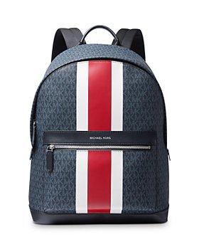 Michael Kors - Logo Print Varsity Stripe Backpack