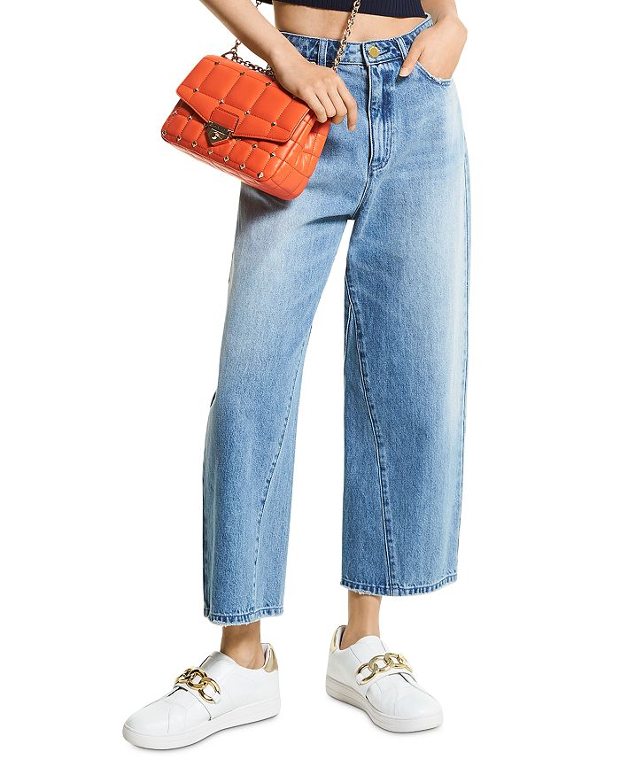 MICHAEL Michael Kors - Cropped Wide Leg Jeans in Vintage Classic Wash