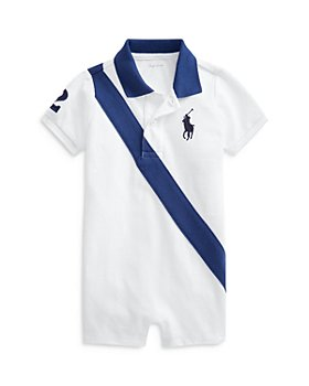 Ralph Lauren - Boys' Sash Striped Polo Shirt Romper - Baby
