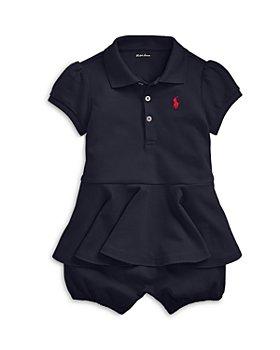 Ralph Lauren - Girls' Peplum Polo Coverall - Baby