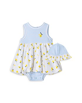 Little Me - Girls' Lemon Popover Dress & Hat Set