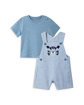 Little Me - Boys' Tiger Striped Shortalls & Tee Set - Baby