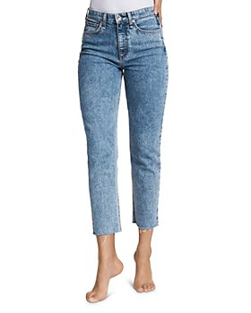 rag & bone - Nina High-Rise Ankle Cigarette Jeans in Calypso