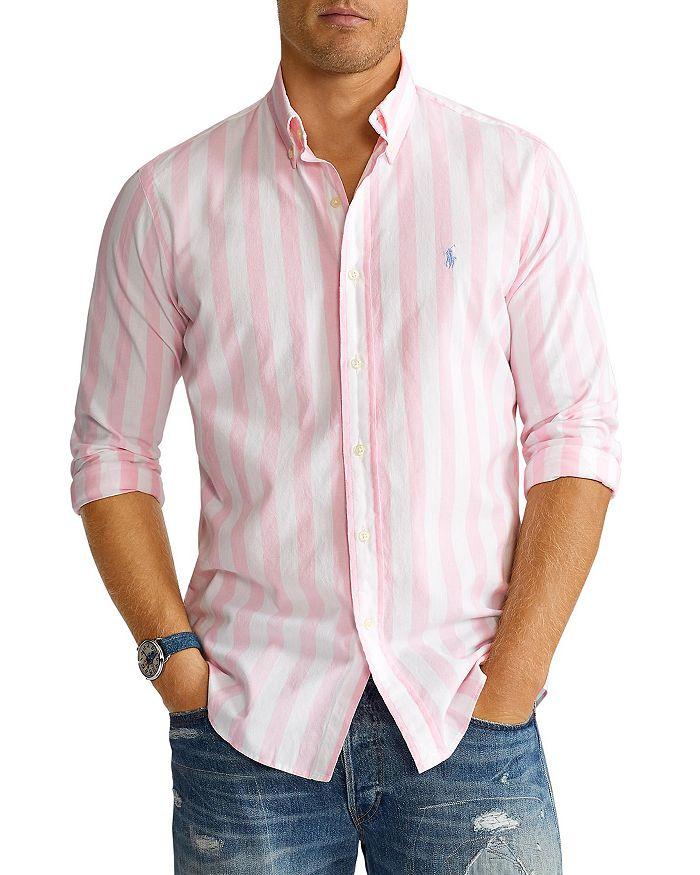 Polo Ralph Lauren - Classic Fit Wide Stripe Poplin Button Down Shirt - 100% Exclusive
