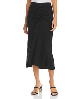 Lucy Paris - Ruched Knit Midi Skirt