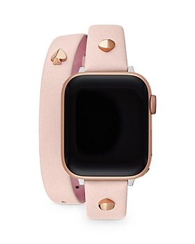 kate spade new york - Blush Leather Double Wrap Apple Watch® Strap
