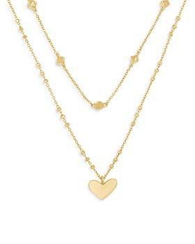 "Kendra Scott - Ari Heart Layered Pendant Necklace, 14-16"""