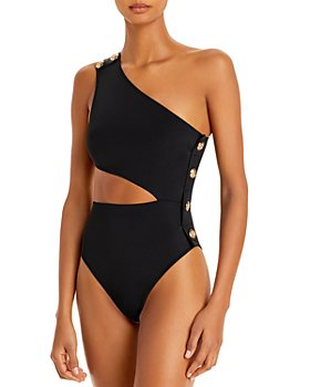 OYE Swimwear - Rhea Cutout One Shoulder One Piece Swimsuit
