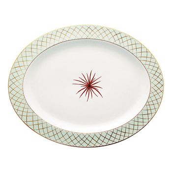 "Bernardaud - Etoiles Oval Platter, 13"""