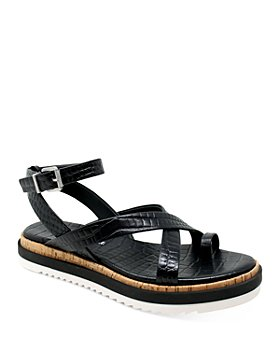 Charles David - Women's Chance Croc-Embossed Strappy Sandals