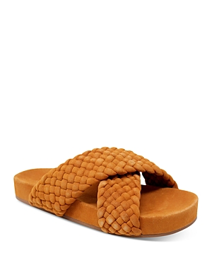 Women's Defend Woven Crossband Slide Sandals