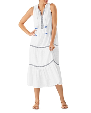 Tommy Bahama Cotton Clip Cover-Up Midi Dress