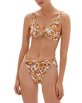 Jonathan Simkhai - Lexi Floral Print Twist Bikini Top & Bailee Floral Print High Cut Bikini Bottom