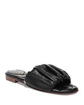 Sam Edelman - Women's Briar Scrunched Leather Slide Sandals