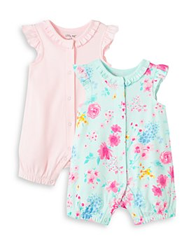 Little Me - Girls' Cotton Rompers, Set of 2 - Baby
