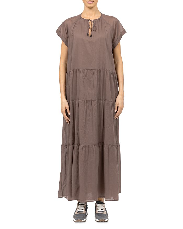 Peserico TIE NECK MAXI DRESS