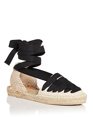 Women's Jean Ankle Tie Espadrille Sandals