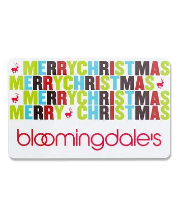 Bloomingdale's - Merry Christmas Gift Card- $250