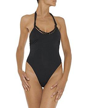 Stella McCartney - Chain Halter One Piece Swimsuit