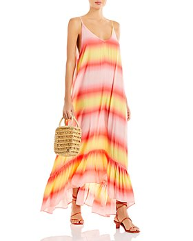 AQUA - Printed Cover-Up Maxi Dress - 100% Exclusive
