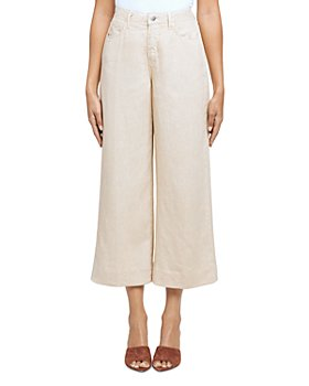L'AGENCE - Danica High Rise Linen Wide Leg Pants
