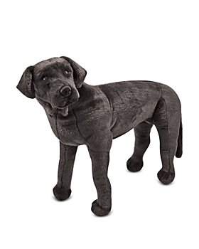 Melissa & Doug - Giant Black Lab Lifelike Stuffed Animal Dog - Ages 3+