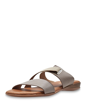 Women's Alima Stretchy Strap Leather Slide Sandals
