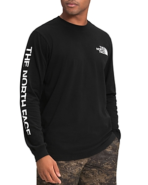 The North Face Cottons COTTON BLEND LOGO GRAPHIC LONG SLEEVE TEE