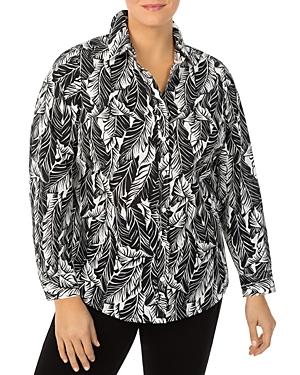 Carmen Cotton Palms Print Shirt